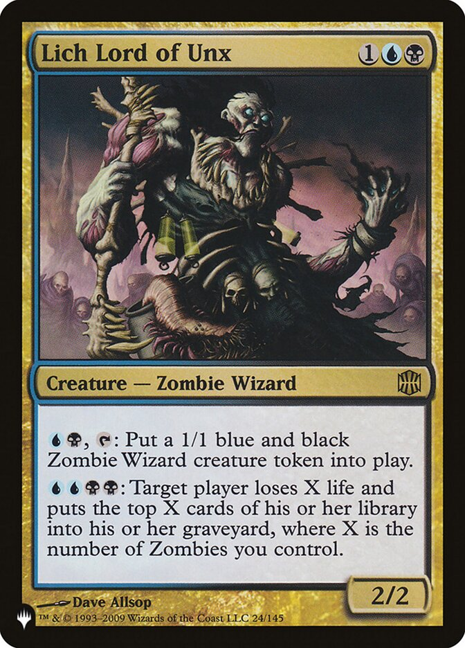 Lich Lord of Unx - The List