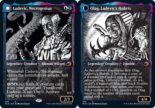 Ludevic, Necrogenius // Olag, Ludevics Hubris - Foil - Showcase
