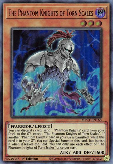 The Phantom Knights of Torn Scales - MP21-EN168 - Ultra Rare - 1st Edition