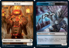 Human Token // Zombie Token (015) - Foil