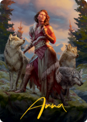 Arlinn, the Pack's Hope (1/81) Art Card - Gold-Stamped Signature