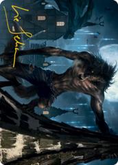 Stalking Predator Art Card - Gold-Stamped Signature