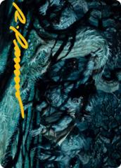Unnatural Moonrise Art Card - Gold-Stamped Signature