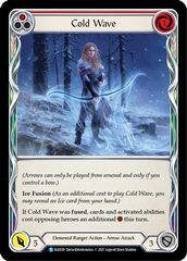 Cold Wave (Red) - Rainbow Foil - 1st Edition