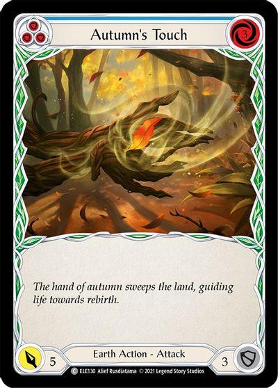 Autumns Touch (Blue) - Rainbow Foil - 1st Edition