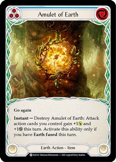 Amulet of Earth - Rainbow Foil - 1st Edition