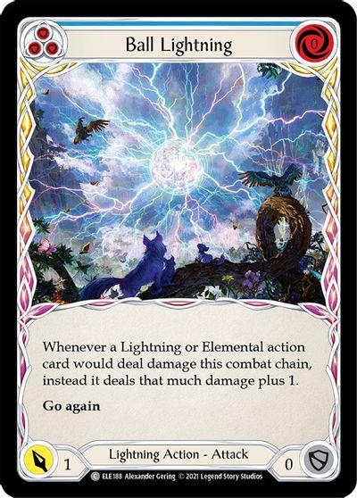 Ball Lightning (Blue) - Rainbow Foil - 1st Edition