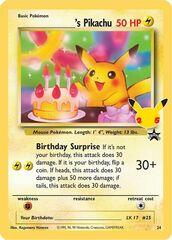 ______s Pikachu - 24/53 - Holo Rare
