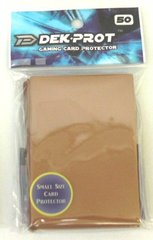 Dek Prot 50ct. Yugioh Sized Sleeves - Mocha Brown