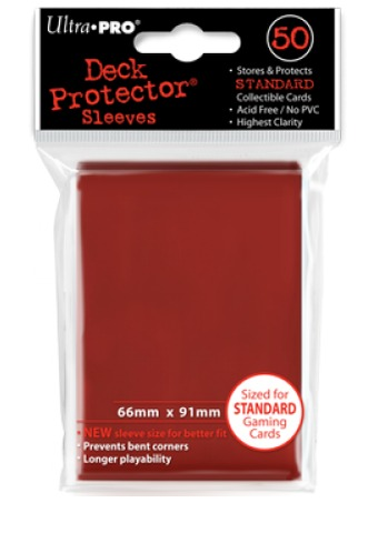 Red (Ultra Pro) - Standard Sleeves - 50ct