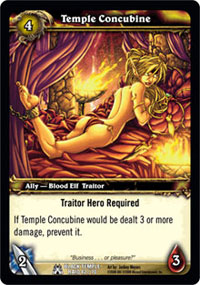 Temple Concubine Out Of Print Tcgs World Of Warcraft Tcg Wow