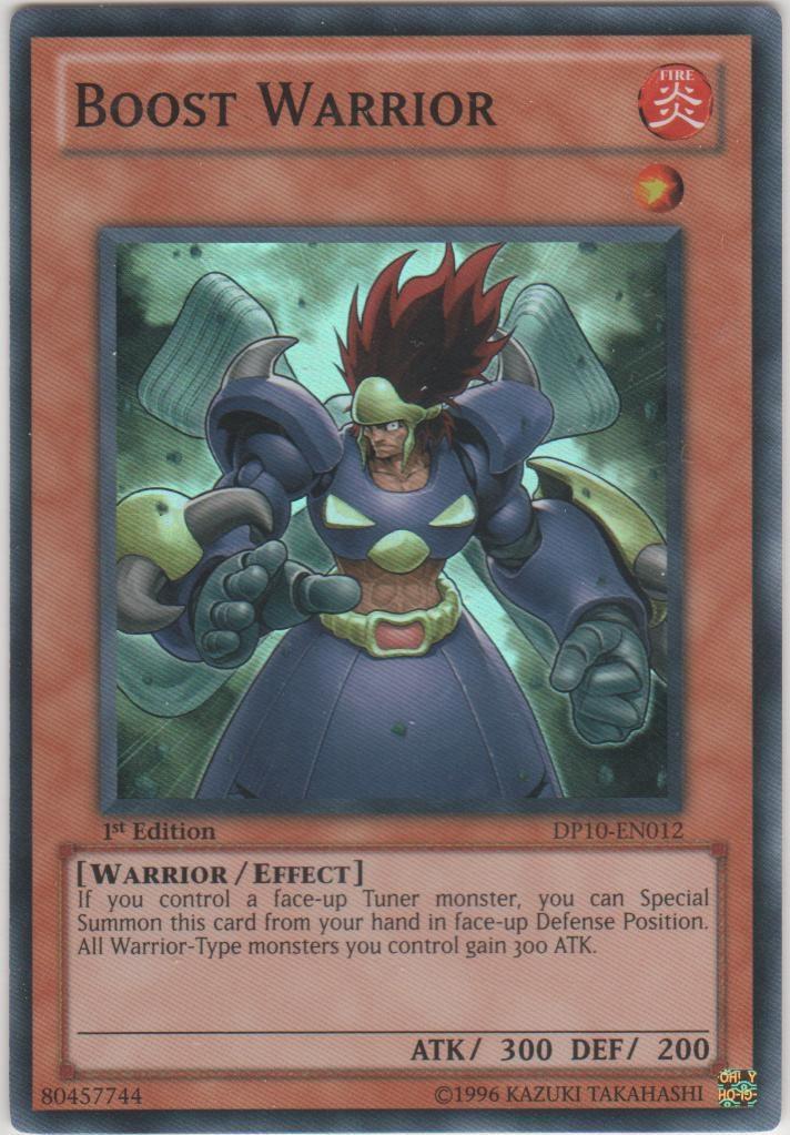 Boost Warrior - DP10-EN012 - Super Rare - 1st Edition