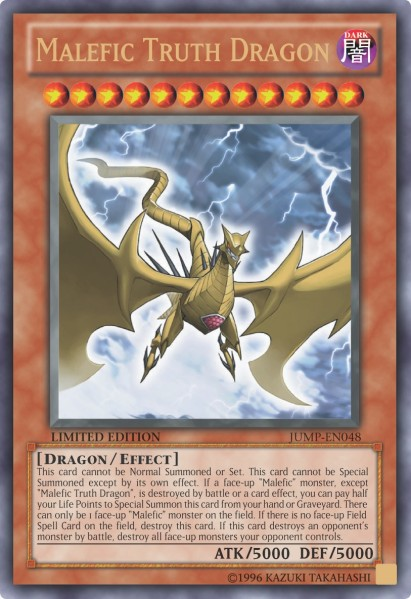Malefic Truth Dragon - JUMP-EN048 - Ultra Rare - Promo Edition