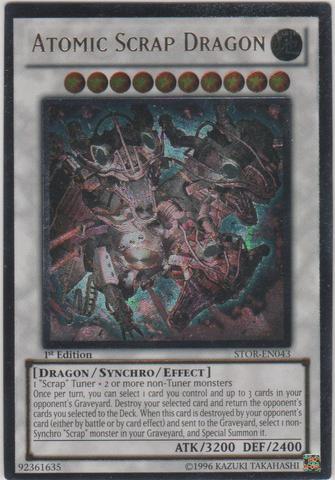 Atomic Scrap Dragon - STOR-EN043 - Ultimate Rare - 1st Edition