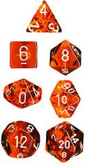 Translucent Orange  / white 7 Die Set - CHX23003