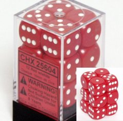 12D6 Opaque Red w/White - CHX25604