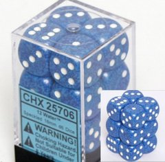 CHX 25706 - 12 Water Speckled 16mm d6 Dice