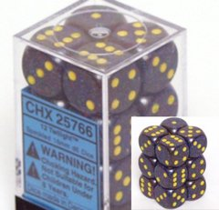 12 Twilight Speckled 16mm D6 Dice Block - CHX25766