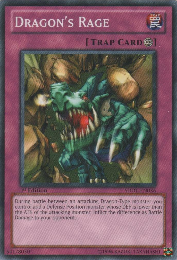 Dragon's Rage - SDDL-EN036 - Common - 1st Edition