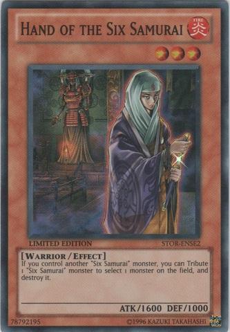 Hand of the Six Samurai - STOR-ENSE2 - Super Rare - Limited Edition