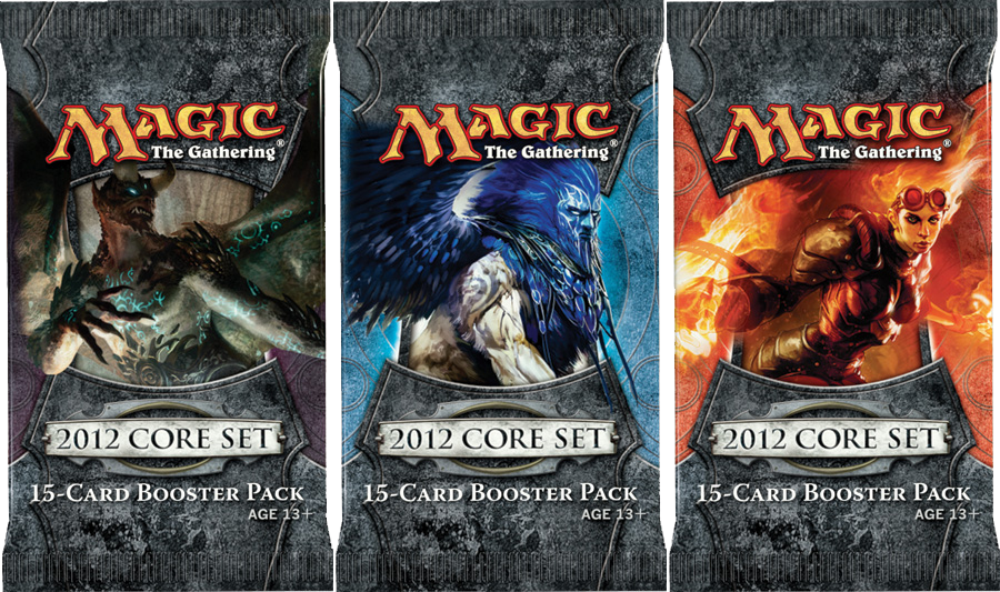 3x Magic 2012 Booster Packs (draft set)