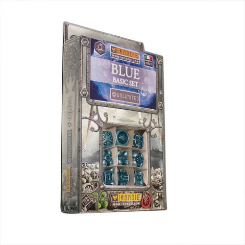 IronDie 9-Dice Starter Pack - Blue