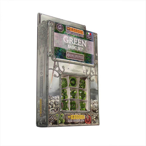 IronDie 9-Dice Starter Pack - Green