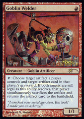Goblin Welder - Foil DCI Judge Promo on Channel Fireball