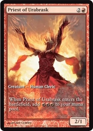 Priest of Urabrask - Extended Art Game Day Promo