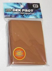 Dek Prot 50ct. Standard Sleeves - Mocha Brown