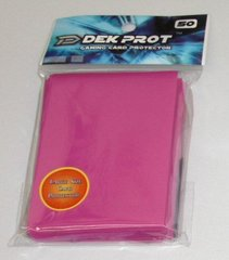 Dek Prot 50ct. Standard Sleeves - Rose Red
