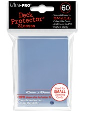 Ultra Pro Small Size Sleeves - Clear - 60ct