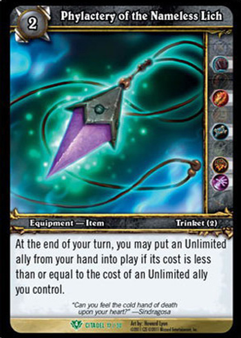 Phylactery of the Nameless Lich - World of Warcraft TCG