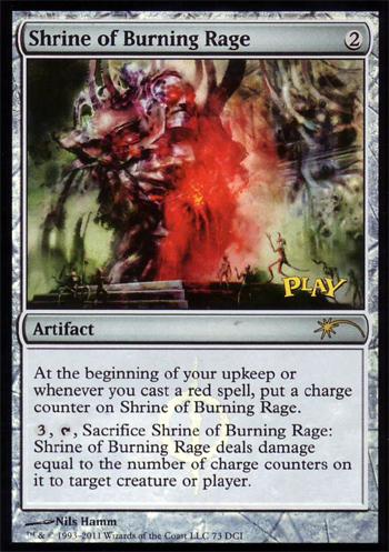 Shrine of Burning Rage - WPN Foil