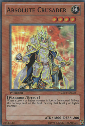 Absolute Crusader - GENF-EN036 - Super Rare - 1st Edition
