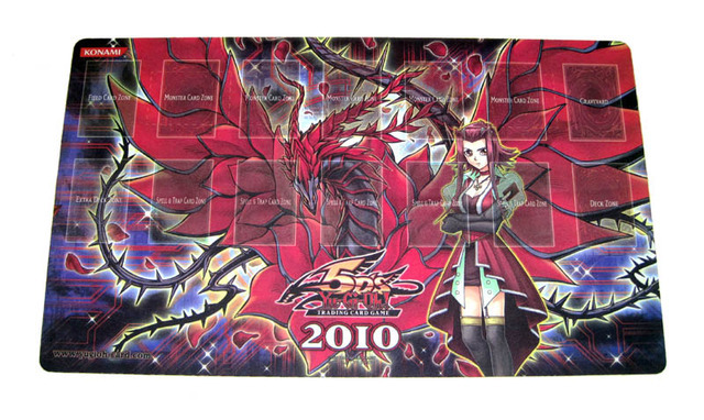 2010 Win-A-Mat Akiza Black Rose Dragon Playmat