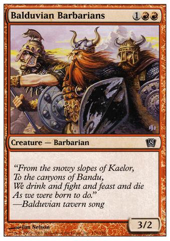 Balduvian Barbarians - Foil