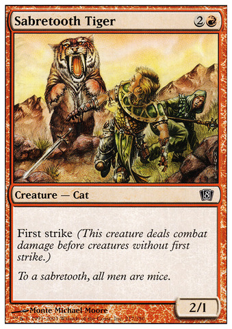 Sabretooth Tiger - Foil
