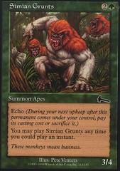 Simian Grunts - Foil
