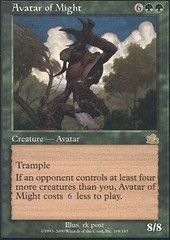 Avatar of Might - Foil on Channel Fireball