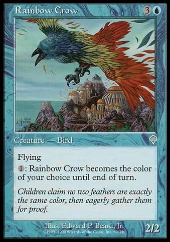 Rainbow Crow - Foil