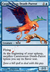 Carnivorous Death-Parrot - Foil on Channel Fireball