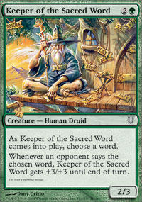 Keeper of the Sacred Word - Foil