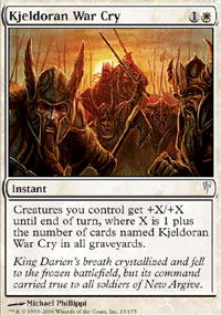 Kjeldoran War Cry - Foil
