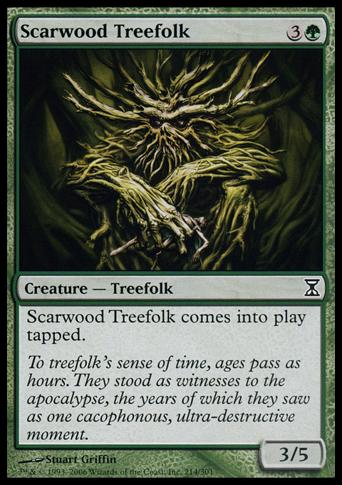 Scarwood Treefolk - Foil