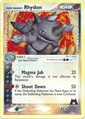 Team Magma's Rhydon - 11/95 - Holo Rare - Reverse Holo