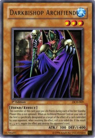 Darkbishop Archfiend - DCR-069 - Rare - Unlimited Edition