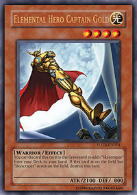 Elemental Hero Captain Gold - FOTB-EN014 - Ultra Rare - Unlimited Edition