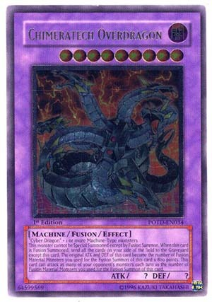 Chimeratech Overdragon - POTD-EN034 - Ultimate Rare - Unlimited Edition
