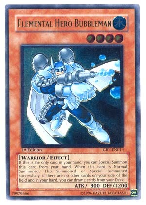 Elemental Hero Bubbleman - CRV-EN014 - Ultimate Rare - Unlimited Edition